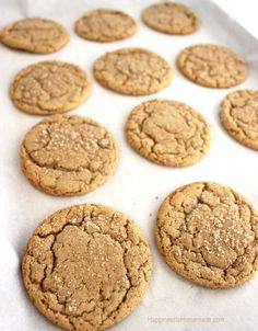 Brown Butter & Maple Brown Sugar Cookies - Happiness is Homemade