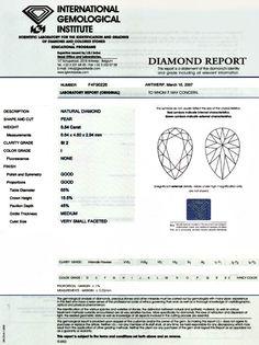 Foto 9, Diamant 0,54 Carat Tropfen-Schliff IGI-Expertise Juwel!, D5800
