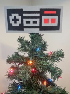 Nintendo Controller Perler Bead Christmas Tree by LighterCases, $25.00