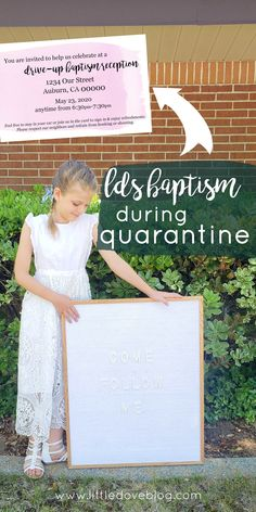Details of our drive-up baptism reception for our LDS baptism during quarantine. #lds #baptism #driveupreception