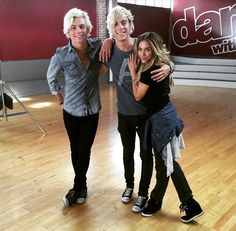"""Ross and Riker Lynch At """"Dancing With The Stars"""", 2015"""