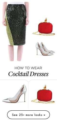 """Elegant Wear to Work Dress"" by nanayau on Polyvore featuring Gianvito Rossi and Moschino"