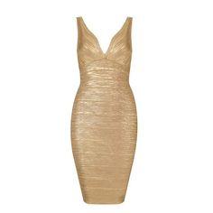 gold shimmer bandage bodycon dress « Bella Forte Glass Studio