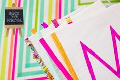 diy washi tape book covers