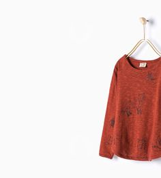 Image 1 de T-shirt imprimé de renards de Zara