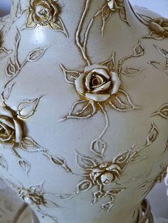 красивый декор для бутылок Reserved for J Ornate cream lamps antique gold от AnitaSperoDesign