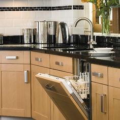 Modern beech and granite kitchen | Kitchen design | housetohome.co.uk