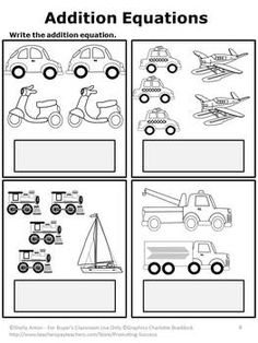 Transportation Non Prep Packet - With these transportation themed worksheets, your students will work on counting, addition, subtraction, greater than/less than, time, money, sequencing, patterns, place value and skip counting. Answer keys are also included.