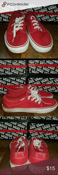 7defaefb1222 Shop Men s Vans Red size Sneakers at a discounted price at Poshmark.  Description  Vans 106 Vulcanized Mens Womens 10 These shoes are preowned.