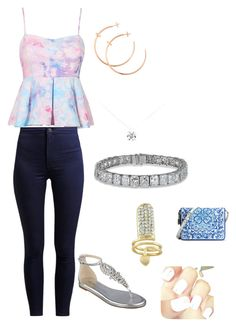 """""""summer day"""" by candycheese2007 ❤ liked on Polyvore featuring Nine West, Tiffany & Co., Cartier and Dolce&Gabbana"""