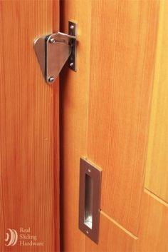 Teardrop Privacy Lock for Sliding Doors - Real Sliding Hardware...NEED