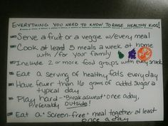 Everything You Need to Know to Raise a Healthy Family (on a 4 X 6 Notecard) | Healthy Ideas for KidsFacebookPinterestEmailAddthis
