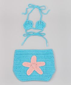 Look at this Crochet Starfish Diaper Cover & Bikini Top - Infant on #zulily today!