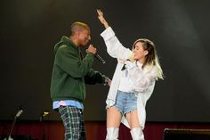 Miley Cyrus with Pharrell Wlliams | Ariana Grande One Love Manchester Concert Pictures Gallery | British Vogue