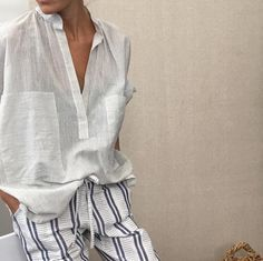 Chic, relaxed and classic. The perfect grab and go white outfit.