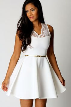 Nadine Scallop Lace Belted Skater Dress. Get unbelievable discounts up to 60% Off at Boohoo using Coupon & Promo Codes.
