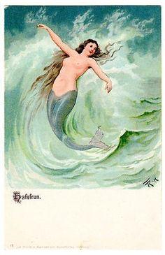 Mermaid Song, Mermaid Art, Mermaid Illustration, Illustration Art, Illustrations, Mermaid Under The Sea, Vintage Mermaid, Mermaids And Mermen, Merman