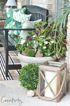 Porch refresh and tips for decorating.
