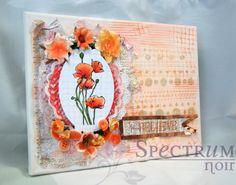 Mixed media canvas tutorial by Spectrum Noir designer Jenn.   #spectrumnoir #mixedmedia #flowers