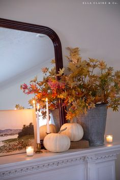 Cozy Fall Decorating Ideas - Ella Claire & Co. Seasonal Decor, House Tours, Cozy, Seasons, Make It Yourself, Table Decorations, Photo And Video, Claire, Fall Decorating