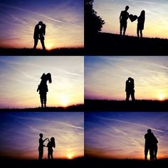 Sunset romantic silhouettes