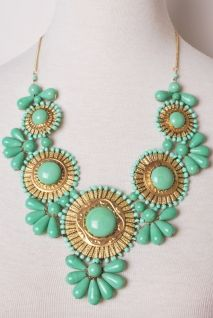 Roman Empire Necklace in Mint | Peacock Plume