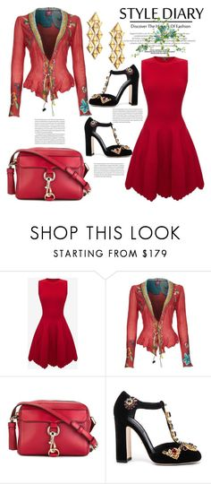"""""""Style This Cardigan"""" by hastypudding ❤ liked on Polyvore featuring Alexander McQueen, Ivko, Rebecca Minkoff, Dolce&Gabbana, Marina B, Elle, contest, fashionset, goodiebag and AmiciMei"""
