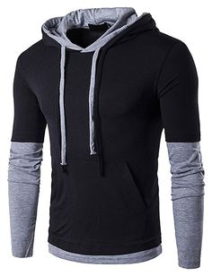 Buy Men's Casual Long Sleeve Hoodie T Shirt Lightweight Hipster Hip Hop Hooded Shirt - - and Others Best Selling Men's Fashion Sweatshirts with Affordable Prices Oversized Fashion, Slim Fit Hoodie, Compression T Shirt, Estilo Hippie, Casual Shirts, Casual Blazer, Casual Jeans, Men Casual, Hipster