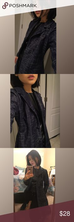 Vintage Denim Blazer Trench Coat This duster reminds me of the matrix tbh. The bottom button is missing but is unnoticeable and a very easy fix. Probably the coolest jean jacket I've laid my hands on! There isn't a size tag but it would fit a small or medium best! Vintage Jackets & Coats