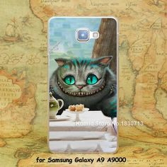 Cheshire Cat alice in wonderland Design hard transparent clear Skin Cover Case for Samsung Galaxy a3 a5 a7 a8 a9
