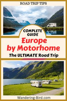 Looking to tour Europe in a Motorhome? This guide tells your everything you need about road trips, camping, gear to carry and Europe routes and itineraries. Road Trip On A Budget, Road Trip Packing, Road Trip Europe, Road Trip Destinations, Road Trip Essentials, Road Trip Hacks, Packing List For Travel, Travel Tours, Europe Travel Tips