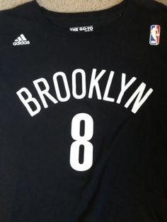 huge discount 1a661 5986c Adidas Mens Black 2XL Brooklyn Nets Deron Williams 8 NBA Tee Crew Neck  TShirt   eBay