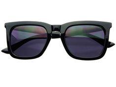 Retro Keyhole Wayfarer Sunglasses Black Gold W1122