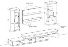 Resultado de imagen para medidas mueble de tv
