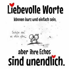 """❤️ Liebevolle #Worte können kurz und einfach sein,aber ihre #Echos sind #unendlich.  """"Schön das es dich gibt"""" #spruch #sprüche #sprüche4you #spruchdestages  …diesmal ohne peinlichen Fehler im Text (hier: Heilbad Heiligenstadt)"""