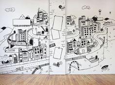 #wall #illustration #decor STUDIO WALL ILLUSTRATION - MOWGLI / Artsy Stuff by Adrian Morris
