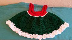Crochet Watermelon Dress by knitcreations86 on Etsy