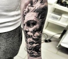 Neptune tattoo by Jakub Hanus