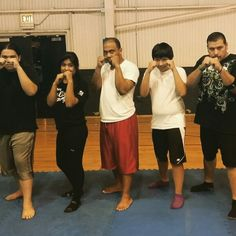 Victory MMA Midway 8/14 with the adult beginners class. Sophia, Miguel, Cesar and Carlos
