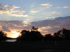 everglades+sunset+tour | photo of sunset between trees