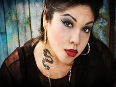 50 Best Neck Tattoo Ideas for Girls: 2015