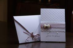 Einladungskarten - Hochzeit Brosche,Spitzenband, Spitze, Schleife - ein Designerstück von EvasCardArt bei DaWanda