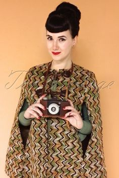 Traffic People Brown and Green Coat 142 49 18621 Charlotte