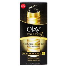 Best New Face Serum (Under $30) - Olay Total Effects Moisturizer + Serum Duo with Broad Spectrum SPF 15
