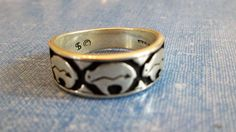 RING - SIGNED - Native American - Buffalo  - SOUTHWESTERN  - 925 - Sterling Silver - Size 9  band104 by MOONCHILD111 on Etsy
