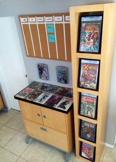 Comic and cabinets on pinterest - Comic book display shelves ...