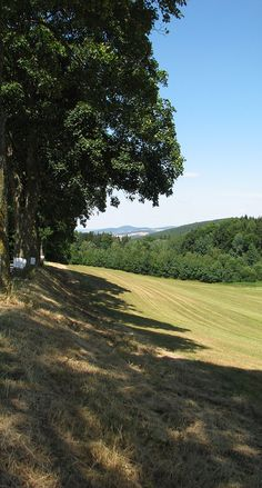 In Mladá Vožice region (South Bohemia), Czechia  Blaník hill in the background (from the south)