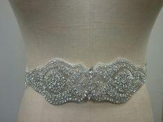 Wedding Belt, Bridal Belt, Bridesmaid Belt, Bridesmaid Belt, Crystal Rhinestone - Style B236. $88.00, via Etsy.