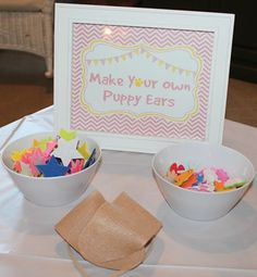 Make your own puppy ears at a dog themed birthday party!