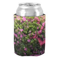#pretty - #Pretty  Pink And Purple Flowers Can Cooler